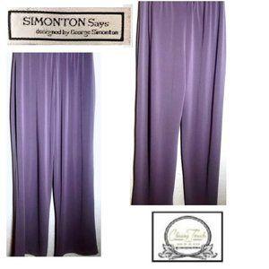 Simonton Says New Lt Grayish Purple Stretch Pants